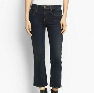 VINCE Crop Flare Stretch Dark Jeans Womens NEW